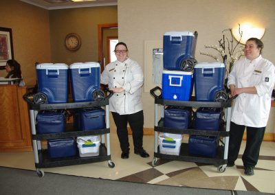Wedgewood Chefs w Meals in Coolers