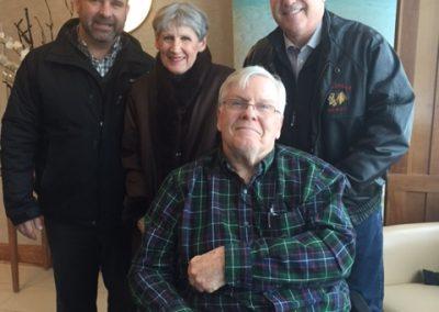 MPP Steve Clark & Mayor Dave Henderson with volunteers