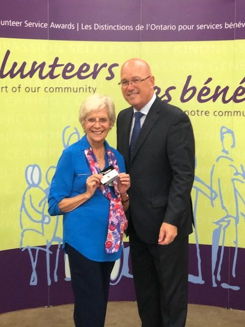 Volunteer Receives Ministry of Immigration & Citizenship -Volunteer Service Award