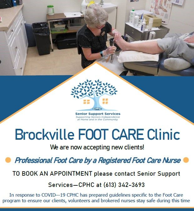 Brockville foot care clinic now accepting new clients